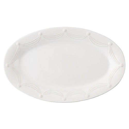 Berry & Thread Oval Serving Platter, White