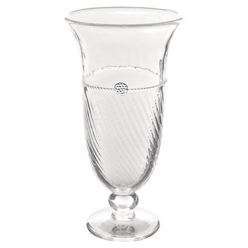 "10"" Graham Trumpet Vase, Clear"