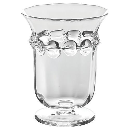 "8"" Ophelia Urn Vase, Clear"