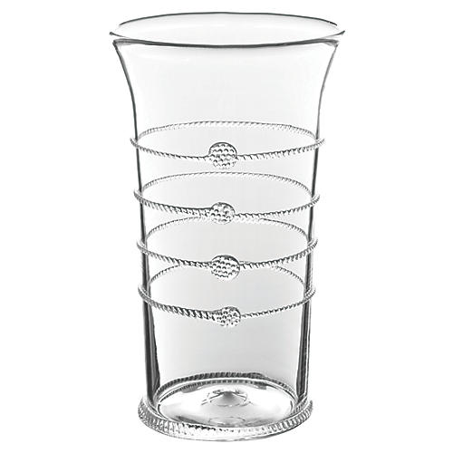 "10"" Arden Flared Vase, Clear"