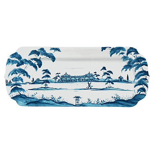 Hostess Serving Trays, Delft Blue