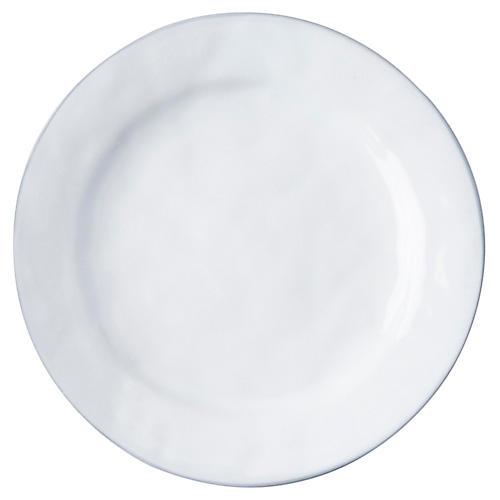 Quotidien Dinner Plate, White Truffle