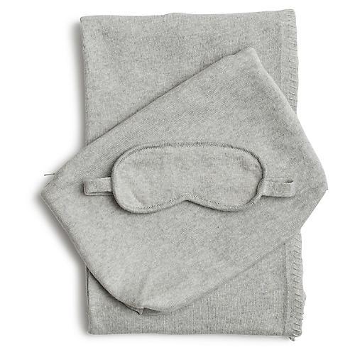 Organic Cotton Travel Set, Gray