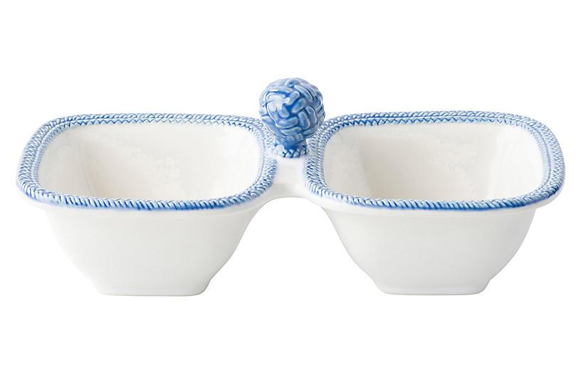 Le Panier Serving Bowls, White/Blue