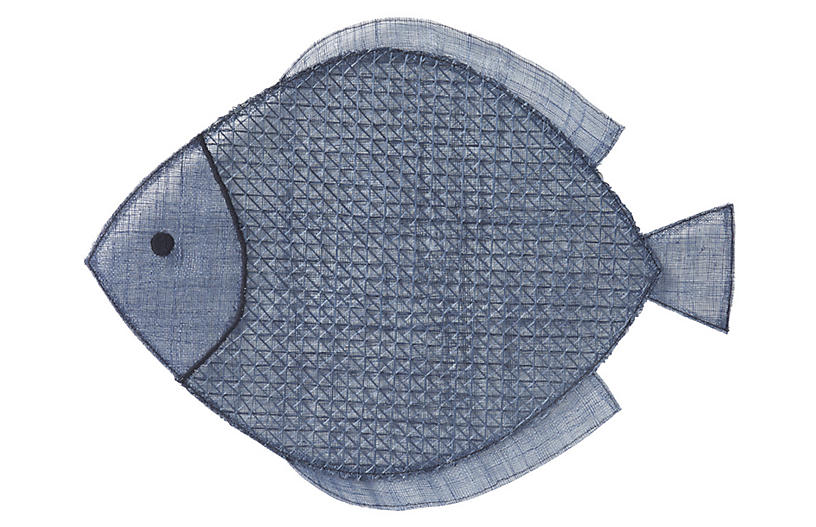 Fish Place Mat - Navy - Juliska
