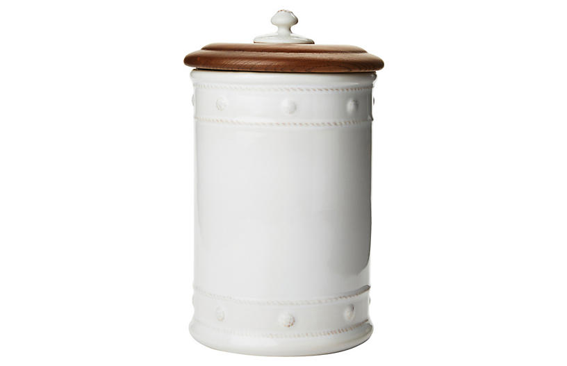 Berry & Thread Canister, White