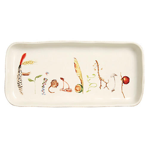 Forest Walk Friendship Serving Tray, Multi