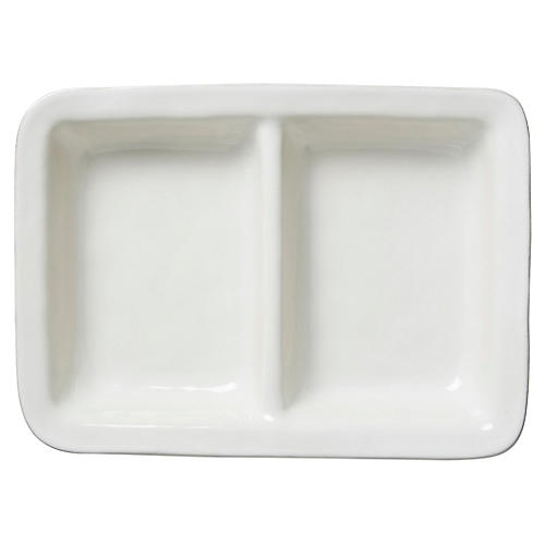 Puro Divided Serving Dish, White