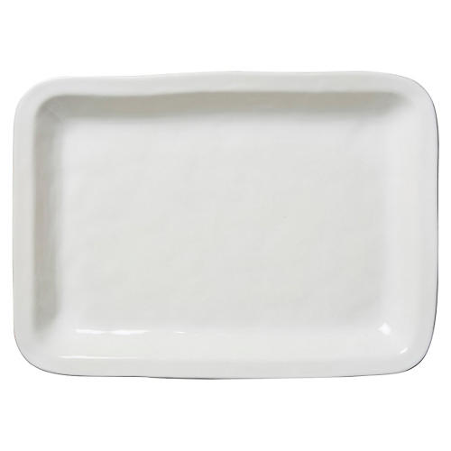 Puro Rectangular Serving Tray, White