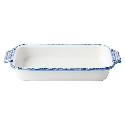 Le Panier Rectangular Baker, White/Blue