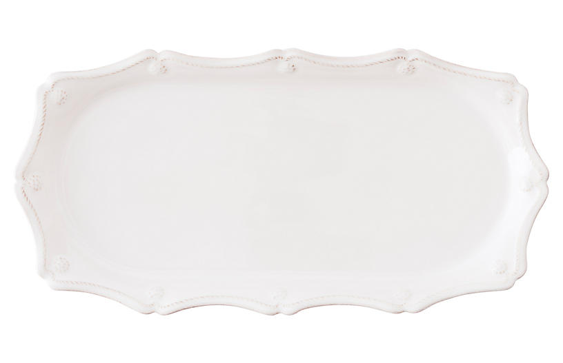 Berry & Thread Serving Tray, White