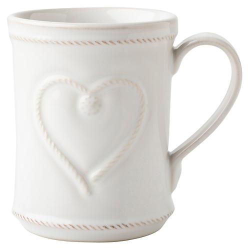 Berry & Thread Love Mug, White