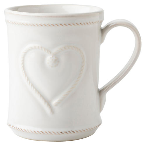 Berry & Thread Love Mug, White