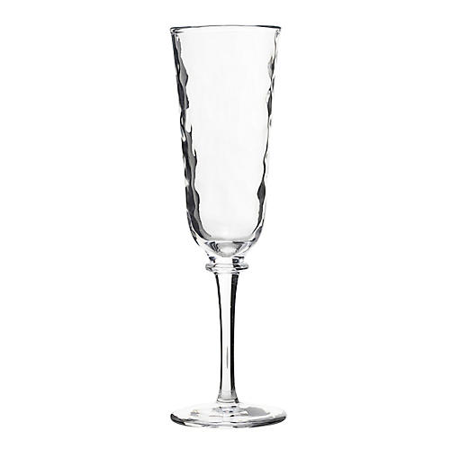 Carine Champagne Flute, Clear