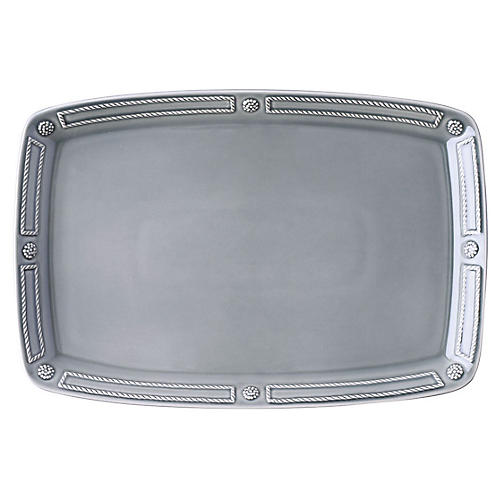 Berry & Thread Platter, Gray
