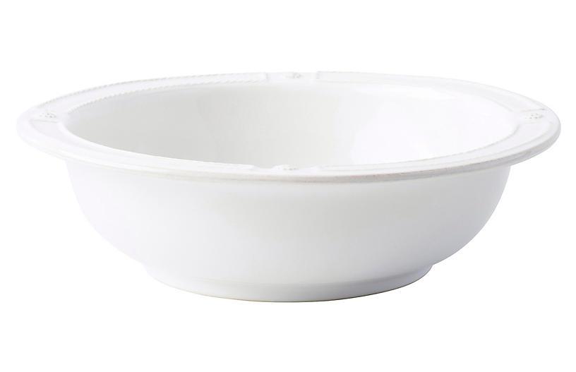 Berry & Thread Serving Bowl, White