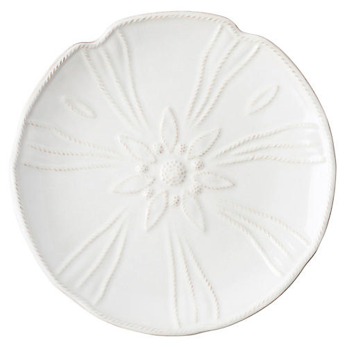 Sea Urchin Salad Plate, White