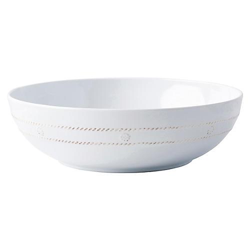 Berry & Thread Melamine Serving Bowl, White