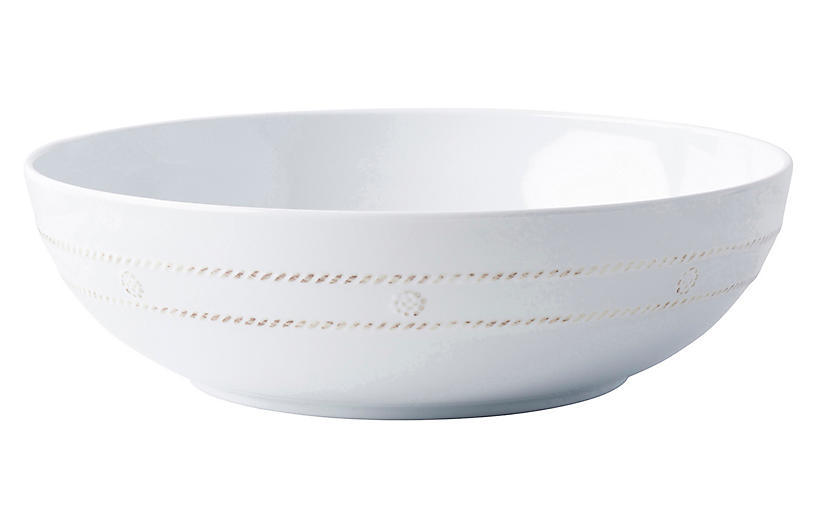 Berry & Thread Melamine Serving Bowl, White