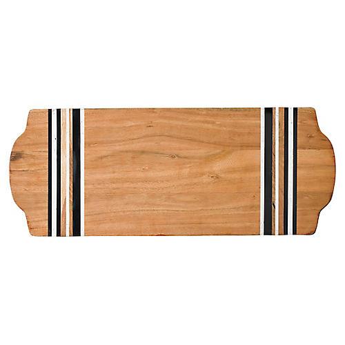 Stonewood Serving Board, Natural/Black/White