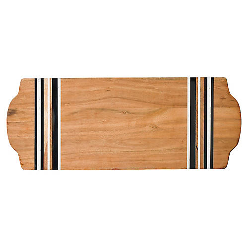 Stonewood Stripe Serving Board, Natural/Multi