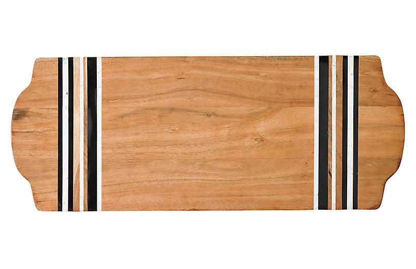 Stonewood Stripe Serving Board, Natural/Multi