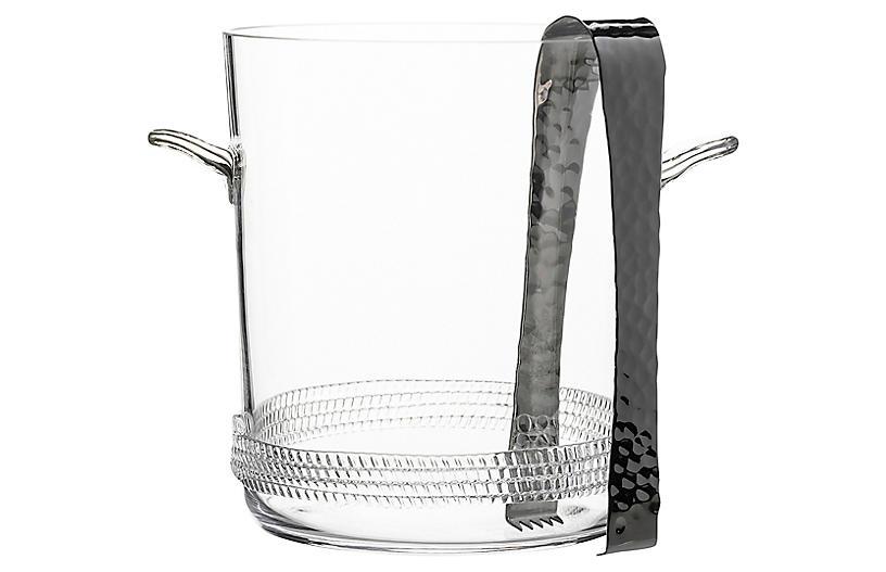 Asst. of 2 Dean Ice Bucket, Clear/Silver