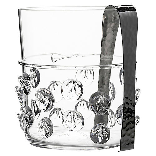 Asst. of 2 Florence Ice Bucket, Clear/Silver
