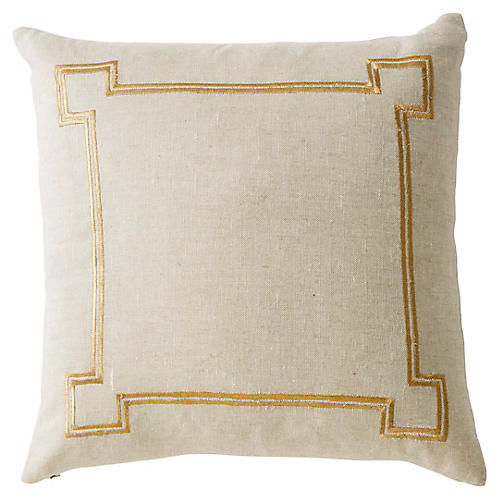 Aria 22x22 Linen Pillow, Beige