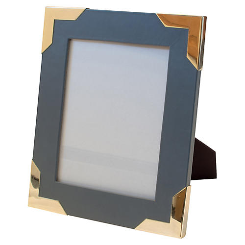 Derby Frame, Gray/Brass