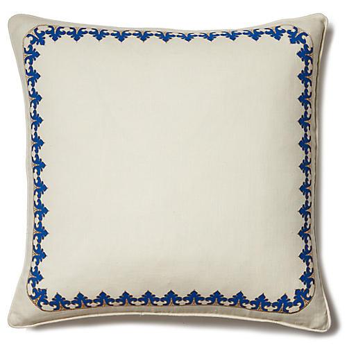 Marrakech Safi 22x22 Pillow, Ivory Linen