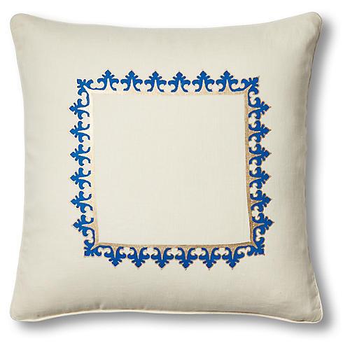 Marrakech Fes 20x20 Pillow, Ivory Linen