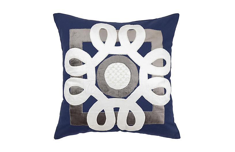 Essentials 22x22 Pillow, Blue