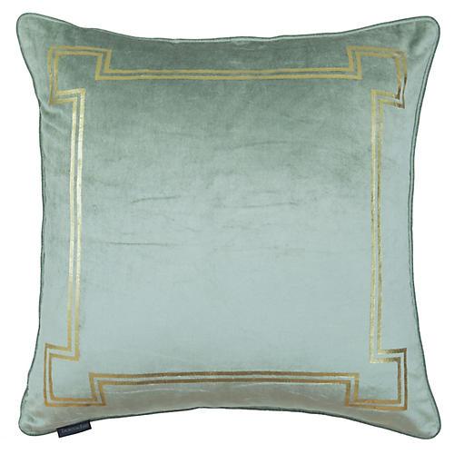 Aria 24x24 Pillow, Seafoam Velvet