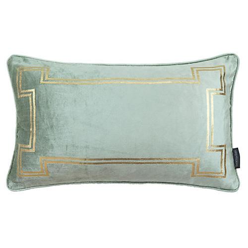 Aria 14x22 Lumbar Pillow, Seafoam Velvet