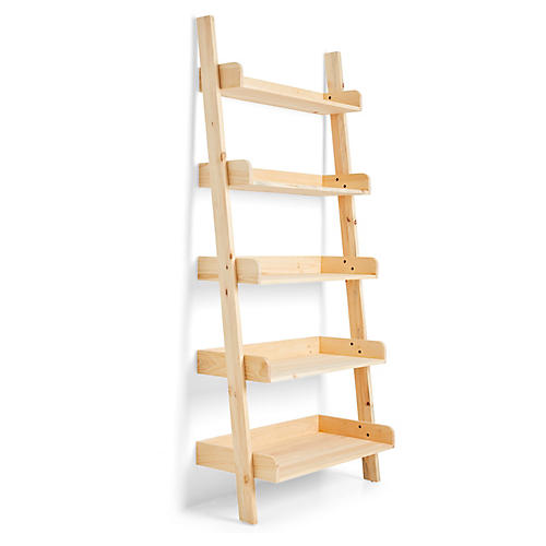 St Paul Ladder Shelf, Natural
