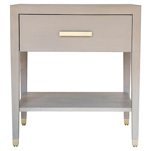 Carlyle Nightstand, Gray