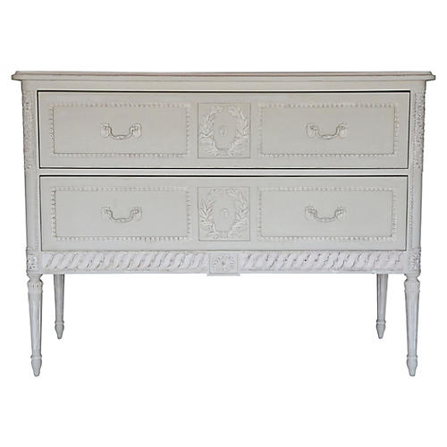Aria Two-Drawer Dresser, Gray