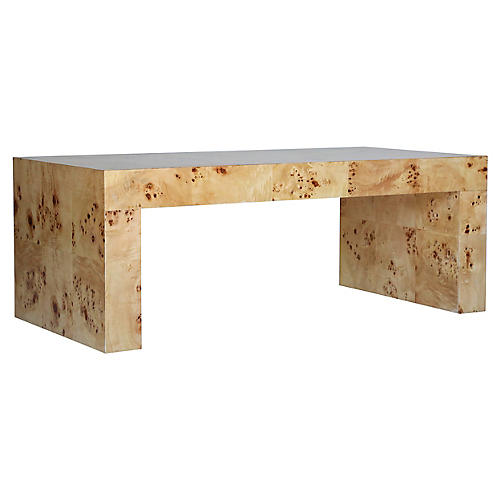 Chloé Coffee Table, Mappa Burl