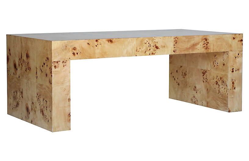 Chloé Coffee Table, Honey Burl