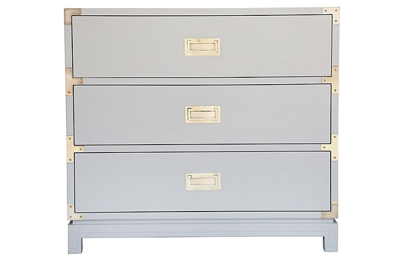 Carlyle Campaign Dresser, Gray