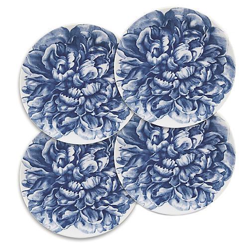 S/4 Peony Blue Canapes