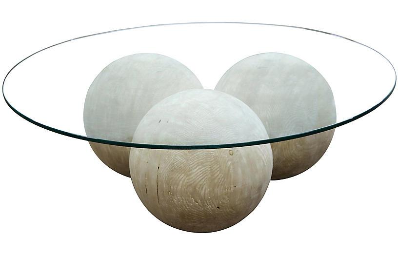 Reclaimed Allium Coffee Table, Graywash