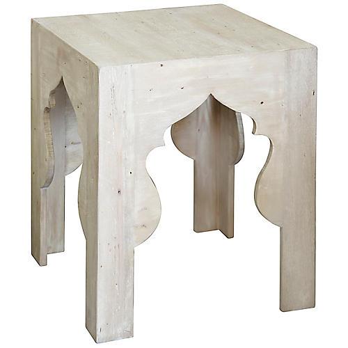 India Side Table, Graywash