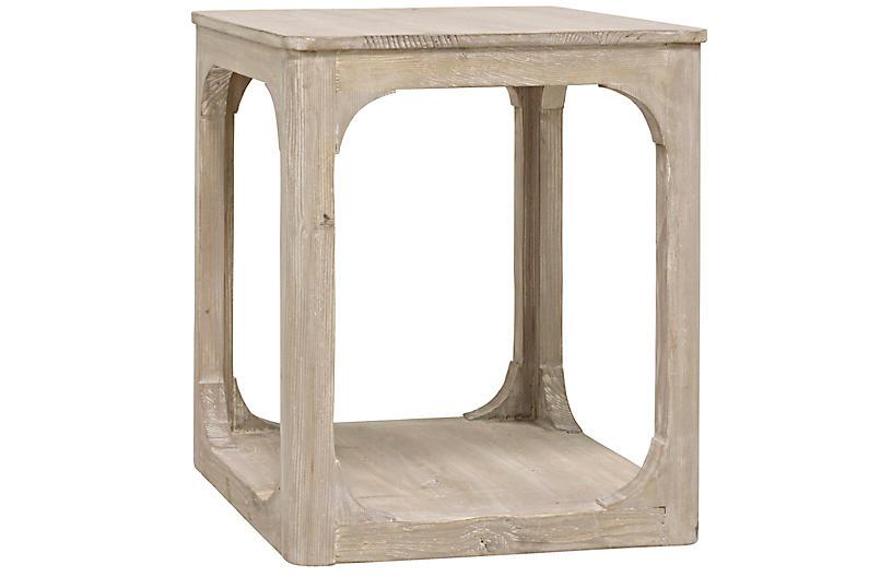 Gismo Side Table, Graywash