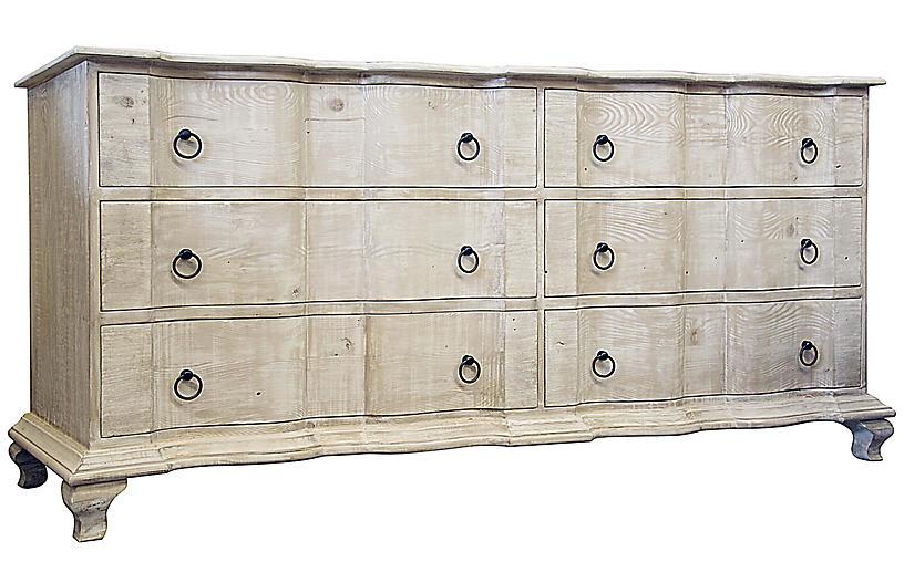 Lexington Double Dresser, Graywash