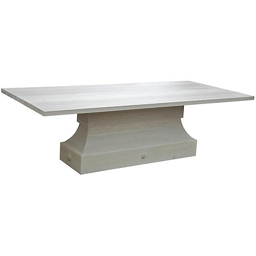 Zinnia Dining Table, Angel White