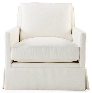 Auburn Club Chair, Ivory Crypton