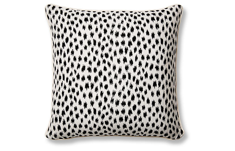 Agra 20x20 Pillow, Black/White Sunbrella