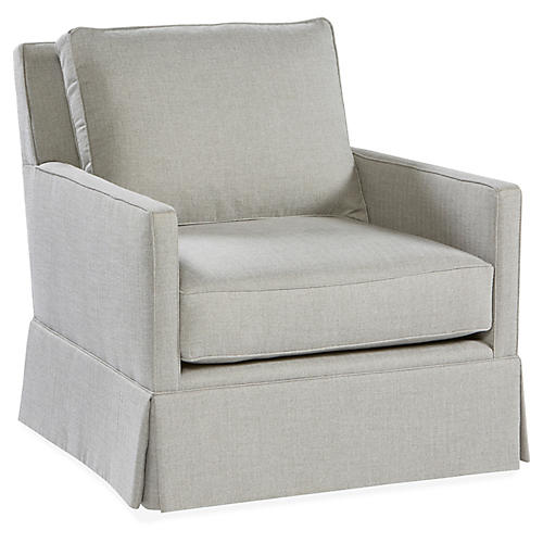 Auburn Club Chair, Stone Crypton